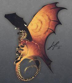 Dragon Design Portrait by AverrisVis on DeviantArt Mythical Creatures Art, Fantasy Creatures, Creature Concept Art, Creature Design, Creature Drawings, Animal Drawings, Wolf Drawings, Fantasy Dragon, Fantasy Art