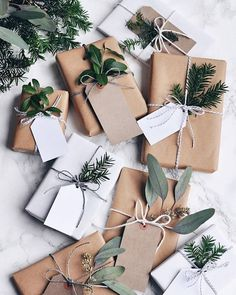 50 Unique Christmas Gift Wrapping: DIY Ideas Get in the holiday spirit! As you're buying gifts, add a personal touch with Unique 50 Christmas gift wrapping ideas! Upcycled Kraft Paper Gift Wrapping Id Christmas Gift Wrapping, Diy Christmas Gifts, All Things Christmas, Holiday Gifts, Wrapping Gifts, Christmas Ideas, Brown Paper Wrapping, Christmas Quotes, Christmas Activities