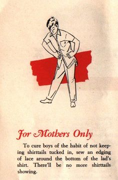 For mothers only…