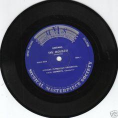 UTRECHT SYMPHONY ORCHESTRA (1894, vanaf 1946 onder deze naam - 1985), onder dirigentschap van Paul Hupperts (periode 1949-1978)  The Moldau 45/LP/LC