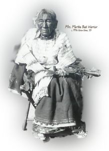 Mrs. Martha Bad Warrior, only woman keeper of the sacred White Buffalo Calf Pipe. Photo by Wilbur A. Riegert