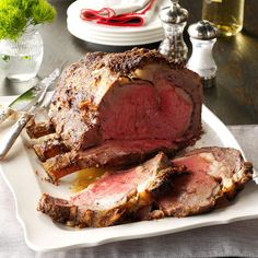 Restaurant-Style Prime Rib Recipe -I have served this recipe to people visiting the U.S. from all over the world and to dear friends, family and neighbors. It is enjoyed and raved about by all. It makes an excellent main dish for a Christmas feast.