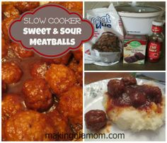 Slow Cooker Sweet and Sour Meatball Recipe