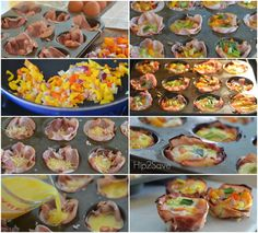 Here's an easy make-ahead breakfast idea that will come in handy for those busy school/work mornings. Bake these yummy ham and egg cups in a muffin tin for a handy breakfast on the go. Swap o…