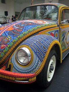 Beaded VW beetle
