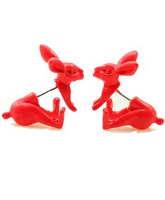 rabbit front and back stud earrings Cute Earrings, Ring Earrings, Front Back Earrings, Ring Watch, Pretty Shoes, Dear Santa, Body Jewelry, Pretty Outfits, Jewelery