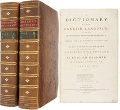 Wisehammer talks of the Johnson's dictionary