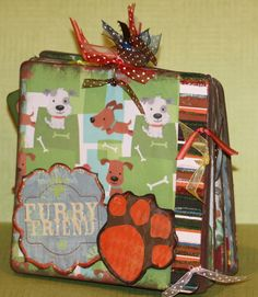 Dog Book - this is another (I believe my 2nd attempt at a chipboard book) book I made.... a little different twist on this one....