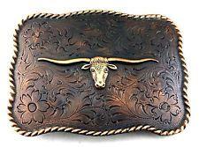 Bonarty Western Bull Belt Buckle Longhorn Steer Shape Belt Buckle For Men Women