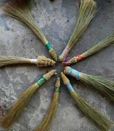 afrikani:  Don't sweep another's house whilst your own is dirty [Kenyan Maasai proverb]  These Xhosa hand brooms are also used as a traditional wedding gift; a protective talisman against lightning and an implement to apply traditional medicine for ritual cleansing and purification to ensure good health and prosperity. Made by Du Noon Urban Weaving, outside Cape Town, South Africa.