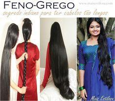 Conheçam um dos segredos indianos para ter cabelos longos e saudáveis, e para fazer o cabelo crescer rápido, estimulando seu crescimento, além de combater a queda de cabelo.
