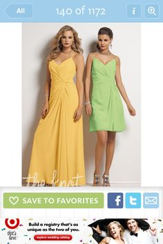 Yellow & Green Dresses