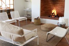 Babylonstoren fireplace made with Lanes Ceramics Klompie bricks