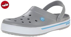 Crocs Crocband Ii.5 Clog Unisex-Erwachsene Clogs, Grau (Light Grey/Electric Blue), Grau, 46/47 EU - Crocs schuhe (*Partner-Link)