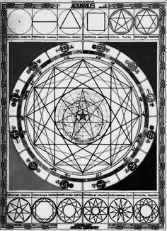 A. T. Mann -  Mandala based on major religious, philosophical and cosmological systems created and organized using the square and the circle, relating to the astrological sign of Aquarius by its quality, numerology and symbolism, 1976.