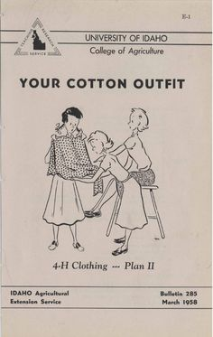 Your cotton outfit (1958)  Instructions and fision tips for creating your own clothing