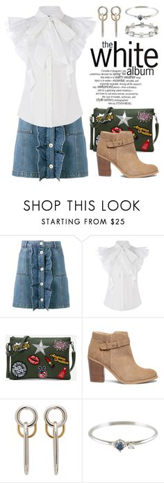 """""""Button Down Skirts 3345"""" by boxthoughts ❤ liked on Polyvore featuring Ganni, Sole Society, Alexander Wang and Jade Trau"""
