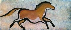 Watercolor on Canson Aquarelle rough - playing with the cave horse style