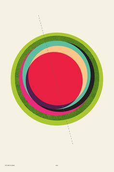 P | 点線が効いてる。正円や色の使い方