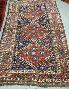 "Kashgai Oriental scatter rug.  4'3"" x 7'9"""