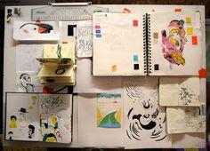 Clayton's sketches and sketchbooks. claytonjunior.com