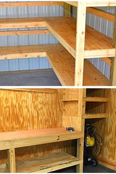 Garage storage ideas with drawers. To-Do List: Organizing the Garage. Set aside enough time to work on the project. Tips 11309 Organizing, Organization, Building A Shed, Garage Workshop, Garage Storage, Mudroom, Storage Ideas, Man Cave, Dyi