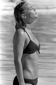 Romy Schneider tournage la Piscine août 1968