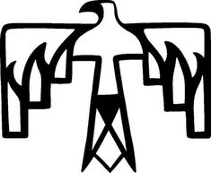 native american  bird symbol
