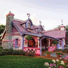 Minnie Mouse's house in Disneyland
