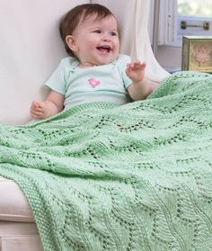 Lace Chevrons Baby Blanket, free pattern us13 needles, 3 balls red heart soft baby steps.