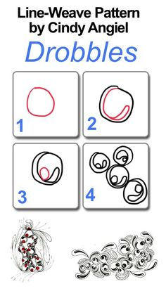 Drobbles Pattern Worksheet - website also has how-to video. Design could be interesting on stones.