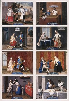 """The racial hierarchy was so codified it gave rise to a type of painting known as the """"casta"""" or caste painting, which seem to have often been commissioned as a sort of visual sociology report."""