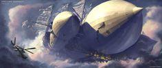 ArtStation - The Lost Zeppelin - Discovery, Jeff Zugale