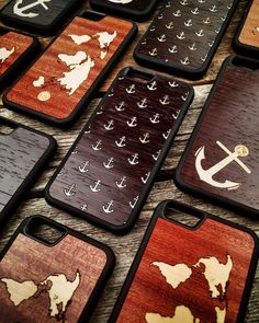 Hand-crafted Nautical iPhone covers? Yup we've got you covered. Browse them all at KeywayDesigns.com.  #toronto #madeincanada #canadianmade #realwood #wood #LaserCut #lasercutting #nautical #anchor #atlas #Keyway #KeywayDesigns