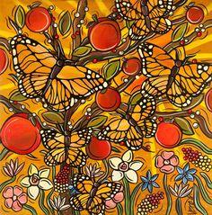 Autumn Monarch Butterflies Art Print  Butterfly by StudioVero