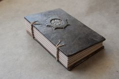 Gothic Leather Journal. badgerandchirp.etsy.com