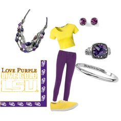 """""""LSU"""" by sonnee-stanley on Polyvore"""