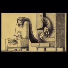 There's something very Junji Ito about this image by @johnkennmortensen. Or perhaps it's the other way around? Follow @darkcomforts for more like this / / / / / #alternative #disturbed #darkcomforts #darkartists #goth #fear #gothic #frightful #horror #nightmare #macabre #gothichorror #scary #darkart #creepyart #artistry_dark #horrorart #edwardgorey #timburtonstyle #grim #scarystuff #disturbing #horror_sketches #junjiito Gothic Horror, Horror Art, Creepy Art, Scary, Tim Burton Style, Edward Gorey, Junji Ito, Goth Boy, Goth Makeup
