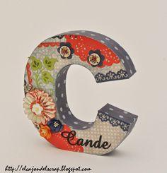 El cajón del scrap: Letra C decorada con scrapbooking / Letter C