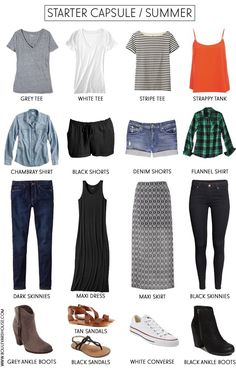 Starter Capsule Wardrobe / summer minimal wardrobe