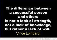 Vince Lombardi #motivational #inspirational quote