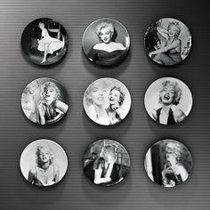"""Encontrar Más Pottery & Enamel Información acerca de 8 """" Marilyn Monroe pared decorativos platos de melamina de resina decorativa placas vintage home decro artesanía decoración figurines, alta calidad figurita de porcelana, China lavabo de porcelana Proveedores, barato fábrica de porcelana de Hoppen House en Aliexpress.com"""