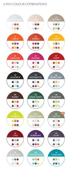 2017 Fermob color combination chart. Which colors go best with each other? #design #color