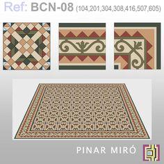 Barcelona modernista – Ref: BCN 08 | PINAR MIRÓ baldosas hidráulicas