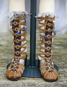 Make Your Own Gladiator (Celtic Warrior) Boots for a Doll