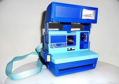 never seen this blue before     Beautiful Polaroid Instant Camera Type 600  Coral and by BFTPO, £89.00
