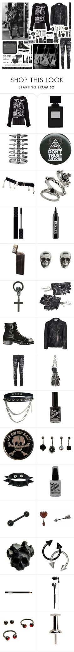 """""""Be scared of everything I do"""" by nothingisnormal ❤ liked on Polyvore featuring Vivienne Westwood, Ayaka Nishi, Versace, Gucci, Ardency Inn, King Baby Studio, Chris Habana, Chanel, Alexander McQueen and T By Alexander Wang"""