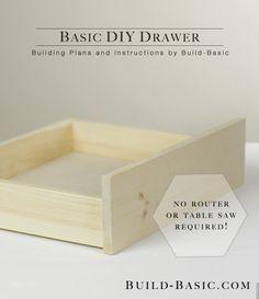 Build an Basic DIY Drawer - Building Plans by @BuildBasic www.build-basic.com
