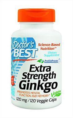 Doctor's Best Extra Strength Ginkgo (120 mg), 120-Count . Researchers worldwide have been assessing dietary antioxidants for possible benefits to memory and brain function. There is substantial evidence for positive effects of Ginkgo biloba leaf extract on awareness, attention and other mental performance.