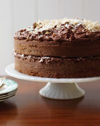 German Chocolate Cake Recipe from Food & Wine.  The true name is German's Chocolate Cake and it is my BIL's favorite cake.  Gotta make this one for him.
